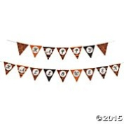Decorative Vintage Look Halloween Pennant Banner 2 Pieces 'Happy Halloween' 2.1m Long