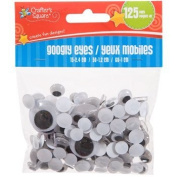 Crafter's Square - Googly Eyes - 125 pack - Assorted Sizes