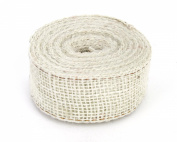 Kel-Toy Burlap Ribbon with Woven Wired Edge, 1.5 x 10 yd, Off White