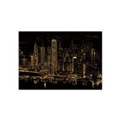 Lago Scratch Paper Famous City Night View Series Hong Kong, Art Paper
