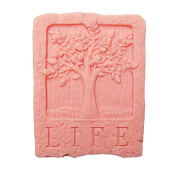 Moldiy Life Tree Rectangle DIY Soap Mould Silicone Soap Making Tool Craft Mould Single Hole