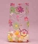 Flower Power Cello Bags, Pack of 25 Great for Birthdays, Springtime Etc!