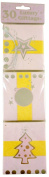 Pack Of 30 Pink & Yellow Christmas Gift Tags - Gift Wrapping - Luxury Gift Tags