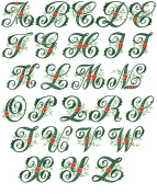 ABC Machine Embroidery Designs Set - Wildwood Ivy Font Embroidery Designs 5x7 Hoop - CD