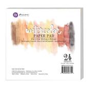 Prima Marketing - 15cm x 15cm Watercolour Paper Pad 24pc 60kg cold press