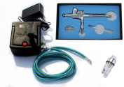 New 0.2MM Dual action airbrush compressor Complete kit for Tattoo hobby T-shirt