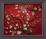 DIY PBN-paint by numbers Apricot blossom-Red by Van Gogh 41cm by 50cm Frameless.