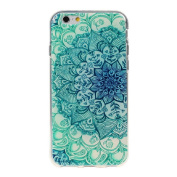 iPhone 6S case, Lookatool® for iPhone 6S 12cm Floral Pattern Flip Stand Leather Case Cover Skin