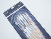 Jerry Q Art 25 PC Value Pack Assorted Brushes For Oil, Acrylic, Watercolour. Combination of Long and Short Handles, Synthetic and Hog Bristles JQ93241