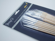 Jerry Q Art 12 PC White Synthetic Paint Brush Set For Acrylic, Watercolour and All Media JQ17931