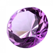 H & D 40mm Crystal Diamond Glass Shaped Home Accent Decoration Paperweight Gift