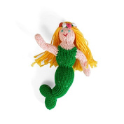 Estella Hand Knitted Organic Cotton Rattle Toy, Mermaid