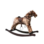 Alexander Taron Large Brown Rocking Horse with Sound Effects 80cm H x 41cm W x 110cm D by Alexander Taron