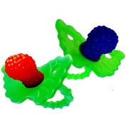Razbaby Raz-Berry silicone Teethers Double Pack Both Colours in One Package. by Razbaby