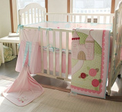 New Baby Girls Little Fairy Princess Castle 9pcs Crib Cot Bedding Set Neutral