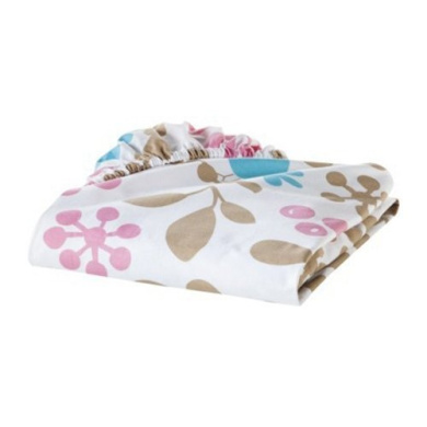 Sumersault Branches 100% Cotton Fitted Crib Sheet in Lovely Colours