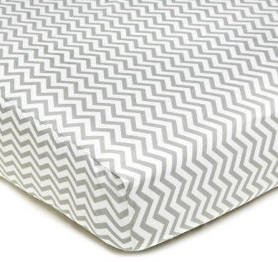 American Baby CompanyPercale Fitted Crib Sheet, Zigzag Grey by American Baby Company