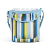 Built Bottle Buddy Three Bottle Tote, In Baby Blue Stripe by Built NY