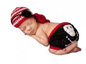 Pinbo® Newborn Baby Boys Photography Prop Crochet Pirate Blinder Hat Nappy