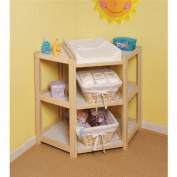 Natural Nappy Corner Changing Table [Toy] # 02206 by Badger Basket