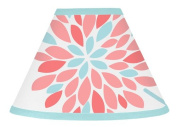 Lamp Shade for Modern Turquoise and Coral Emma Bedding Collection