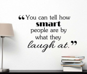 You can tell how smart people are by what they laught at cute Wall Vinyl Inspirational Quote lettering motivational Art Saying Sticker stencil nursery wall decor