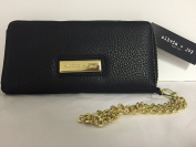Olivia and Joy Zip Around Credit Card,cell Phone Wallet the Anette Collection Black