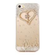 iPhone 6S Plus Case, Sense-TE Luxurious Crystal 3D Handmade Sparkle Glitter Diamond Rhinestone Ultra-Thin Clear Cover with Retro Bowknot Anti Dust Plug - Cross Heart