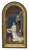 High Quality Polyster Canvas ,the Beautiful Art Decorative Canvas Prints Of Oil Painting 'Abbot Christiaan De Hondt By The Master Of 460m, 30x51 Inch / 76x129 Cm Is Best For Kids Room Decor And Home Decor And Gifts