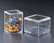 Acrylic Luctie Square All Purpose Box with Lid