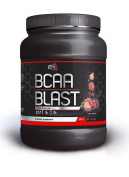Pure Nutrition USA Bcaa Blast Best Branched Chain Amino Acid Instantized Powder Sports Supplement 5000mg 500/250gr 38/77 Servs Flavour Lime Watermelon Grape Raspberry Fruit Punch