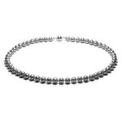 Blue Pearls - Silver Freshwater Pearl Necklace and 925 Silver Clasp - BPS 0015 L