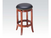 ACME 07198 Chelsea Swivel Counter Stool, Oak Finish, 60cm