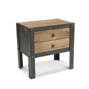 Moe's Home Collection Bolt Side Table with 2-Drawers - Natural