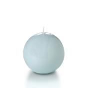Yummi 7.6cm High Gloss Sphere Ball Candles, Ice Blue - 3 per pack