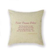 Custom Picture 46cm x 46cm Square Cotton Linen Decorative Throw Pillow Case Decor Cushion Covers