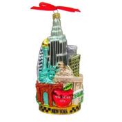 Kurt Adler C4055 New York Glass Cityscape Ornament, 14cm