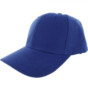 Blue-100% Acrylic Plain Baseball Cap Baseball Golf Fishing Cap Hat Men Women Adjustable hook and loop US Seller)