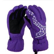 FakeFace Snowflake Waterproof Thinsulate Outdoor Winter Snowboard Ski Gloves