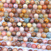 Natural Pink Ocean Agate Round Gemstone Beads Jewerlry Making Findings