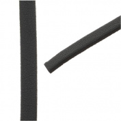 Flat Faux Leather Cord 5x1.5mm - Black - Pack of 1 Metre