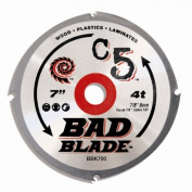 KwikTool BBK700 18cm C5 Bad Blade 4 Tooth With 1.6cm Arbor20-millimetre Reduction Ring