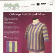 Sideways Knit Striped Pullover - Vermont Fibre Designs Knitting Pattern #108 - XS-4/5X - Pattern Only