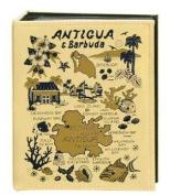 Antigua & Barbuda Map Embossed Photo Album 100 Photos / 4x6