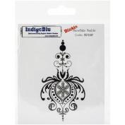 IndigoBlu Cling Mounted Stamp 7.6cm x 10cm -Snowflake Bauble-Dinkie