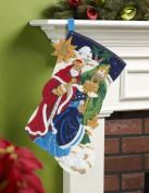 BUCILLA 86651 Three Kings Felt Applique Stocking Kit, 46cm