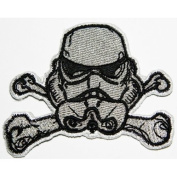 Star Wars Storm Trooper Cross Bones Patch Embroidered Iron on Hat Jacket Hoodie Backpack Ideal for Gift/7.5cm(w) X 5.3cm