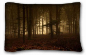 Custom Nature Popular 50cm x 80cm One Side Pizza Rectangle Pillowcase suitable for King-bed