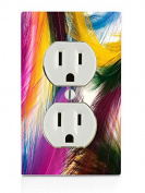 Feathers Electrical Outlet Plate
