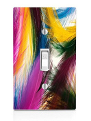 Feathers Light Switch Plate